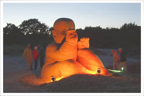 Sandskulpturer i Sandvig