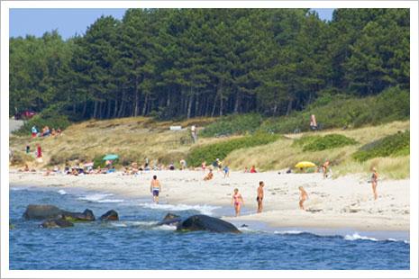 Stranden ved Hasle er meget børnevenlig