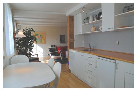 Køkkenet i lejlighed D.