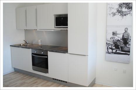Årsdale Søpark byder jer velkommen med flotte og lyse køkkener.
