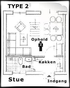 Feriehusets planløsning