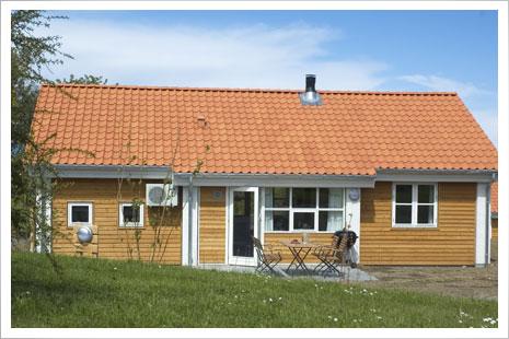 Sandkaas, nyopførte feriehuse på Nordbornholm