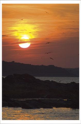 Solnedgang i Gudhjem