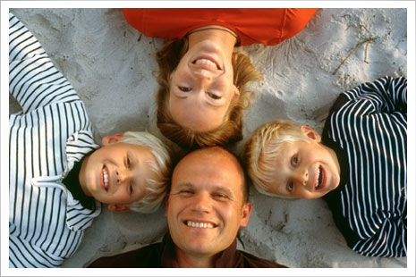 Familien trives på Dueodde Badehotel